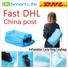 Top quality Beach Lounge lazy bag inflatable sleeping bag Fast Inflatable camping hangout Air Sofa Sleep Camping Bed