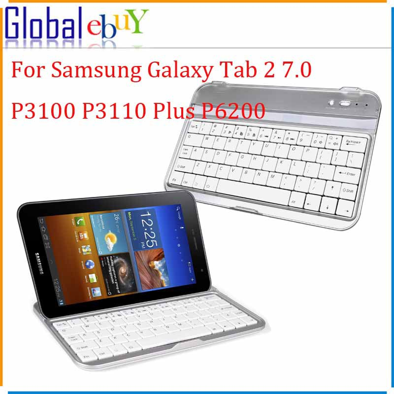 Original Bluetooth Wireless Stand Case Keyboard Case Stand For Samsung Galaxy Tab 2 7.0 P3100 P3110 Plus P6200 Stand Case(China (Mainland))