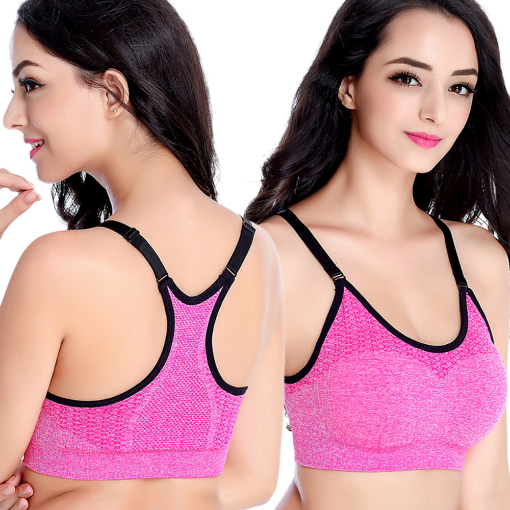 2016Hot summer sports vest breathable polyester running sport bras adjust band padded wirefree sport tops colorful sports suit<br><br>Aliexpress