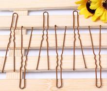 Bobby Pins Brown Hairpins professional makeup hair maker accessory round toe hair clip 100pcs/lot bobby pins retail/wholesale(China (Mainland))