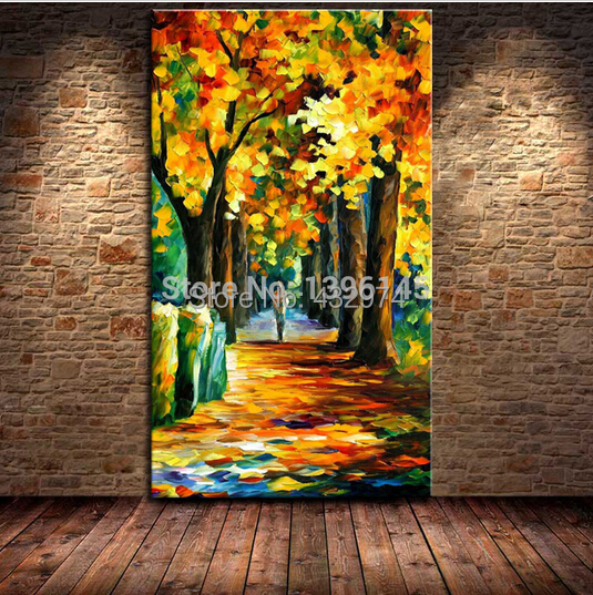 100% Handpainted Street Landscape Scenery Canvas Knife Palette Painting Home Decor Pictures - 5 stars cosplay shop store