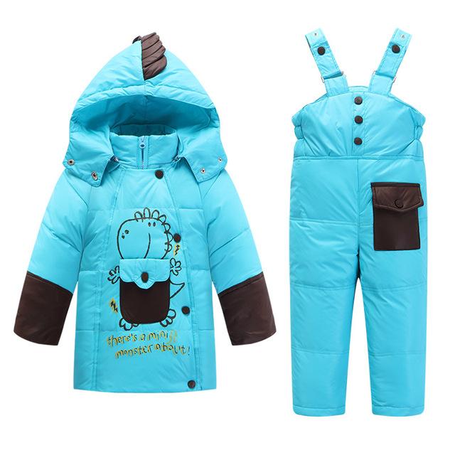 C902 Детские Длинные Меховой Snowsuit Животных Прекрасный Капюшоном Куртка Детская мальчик Одежда Девушки Пальто И Куртки зима Вниз Снег Комбинезоны младенческой