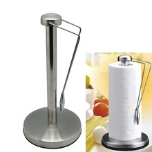 Stainless steel towel rack  roll paper shelf kitchen towel rack living room boutique tissue holder(China (Mainland))