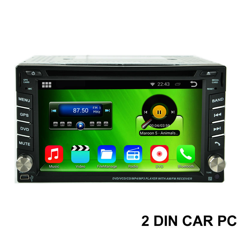 Free Shipping, Cortex A9 1.6GHz Capacitive Screen Android 4.4.4 2 Din Car PC With DVD GPS 3G WiFi OBD DVR Stereo Video Player(China (Mainland))