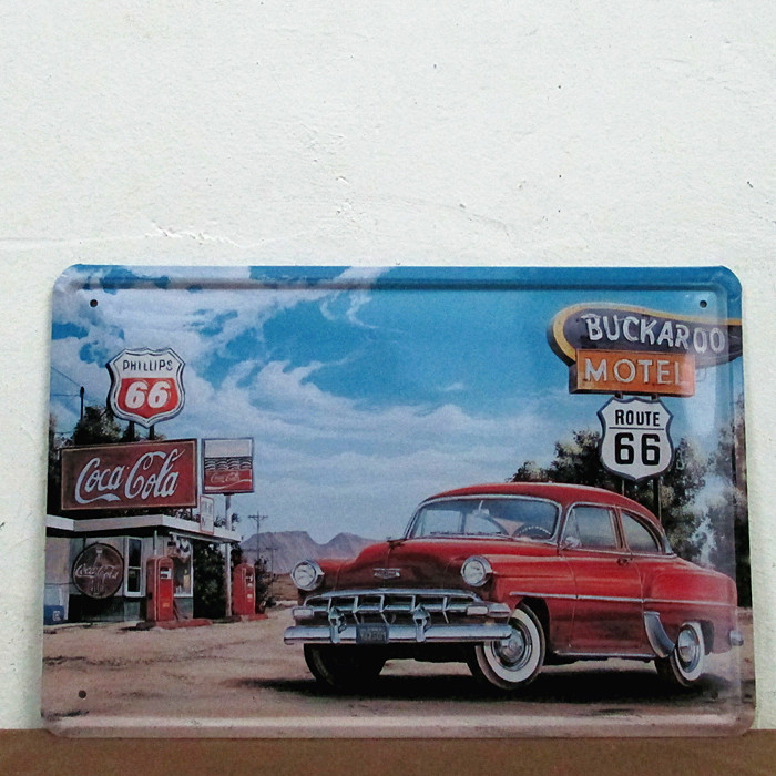 Service area of the route 66 Metal Signs Gift PUB Wall art Painting Poster Bar DecorE-15 Mix order 20*30 CM(China (Mainland))
