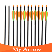 12pcs,31 Inch Long,Spine 600,Target Practice Steel Point Archery Fiberglass Arrows with for Hunting Compound Bow Arrow
