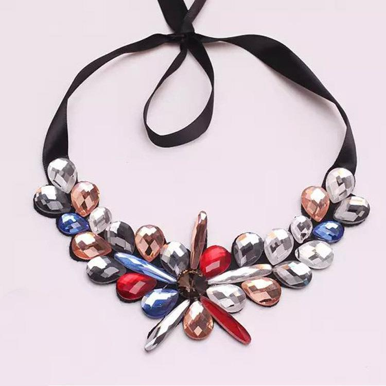 Star Jewelry Fashion 3 colors New Choker Rhinestone Necklaces Women 2015 Statement Pendant Necklace - Mamojko Store store