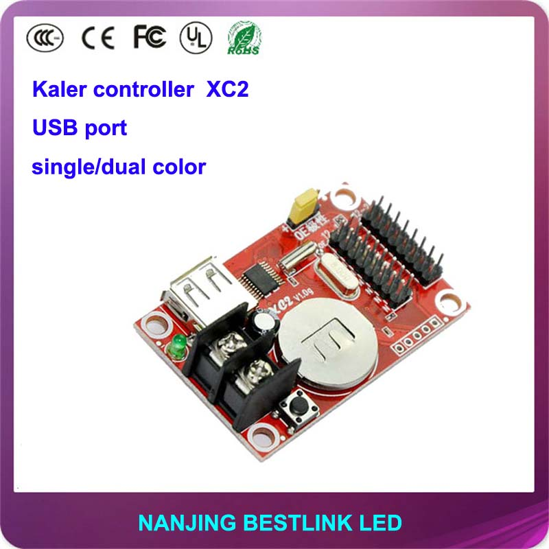 kaler XC2 led control card 32*320 pixel USB port led controller card for P10 outdoor led display screen led scrolling sign baord(China (Mainland))