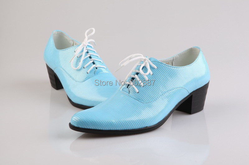 New Arrival Groom Shoes Sky Blue Mens Dress Shoes New Wedding Shoes Leather Shoes Mens Flats