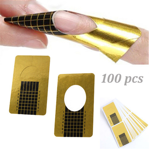 100Pcs Fashion Nail Form Art Tips Extension Forms Guide French DIY Tool Acrylic UV Gel Nail Tool(China (Mainland))