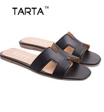 2016 new summer sytle European Hot sale Pu matial women's fashion slippers 3 Color H shape shoes for women lx-37