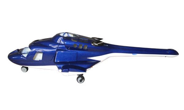 NUEVA versión Bell helicopter 222 fuseage airwolf 450 Azul W/retrae y tren de aterrizaje de metal VS A-109, UH-1--450 helicóptero(China (Mainland))