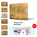 Colorful Vintage Map Laptop Matte Protective cover For Macbook Pro 15 Case air sleeve 13 Pro