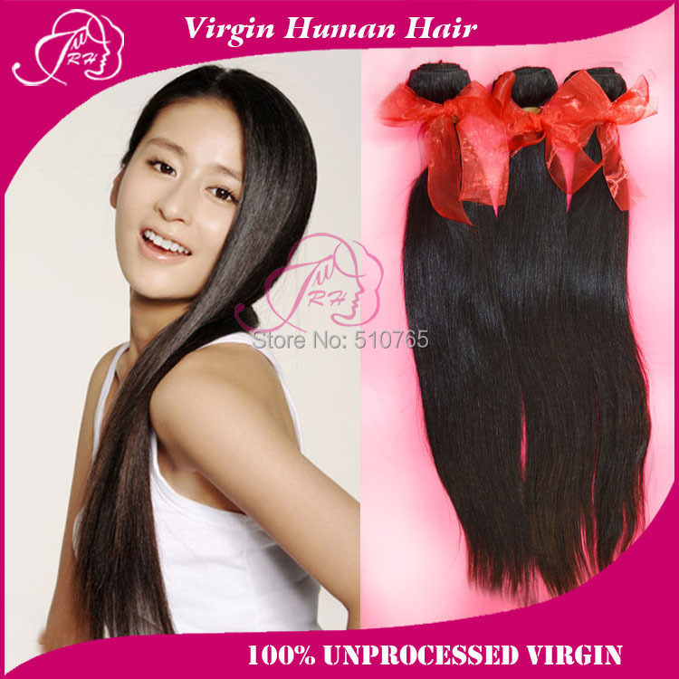 malaysian virgin hair straight extension unprocessed human weaves natural color,12 inch-30 inch DHL ! - Xin products factory store