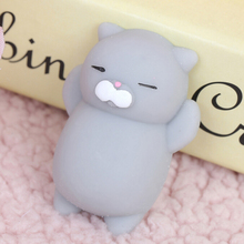 1PCS Mini Cute Mochi Squishy Cat Squeeze Healing Kids Kawaii Toy Stress Reliever Decor animal Noverty Toys Anti Stress(China)