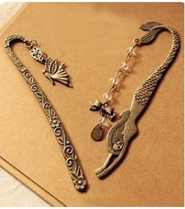 (Min Order $10 +Gift)+Free Shipping!  Retro elves pattern Mermaid Beaded butterfly bookmarks   E079