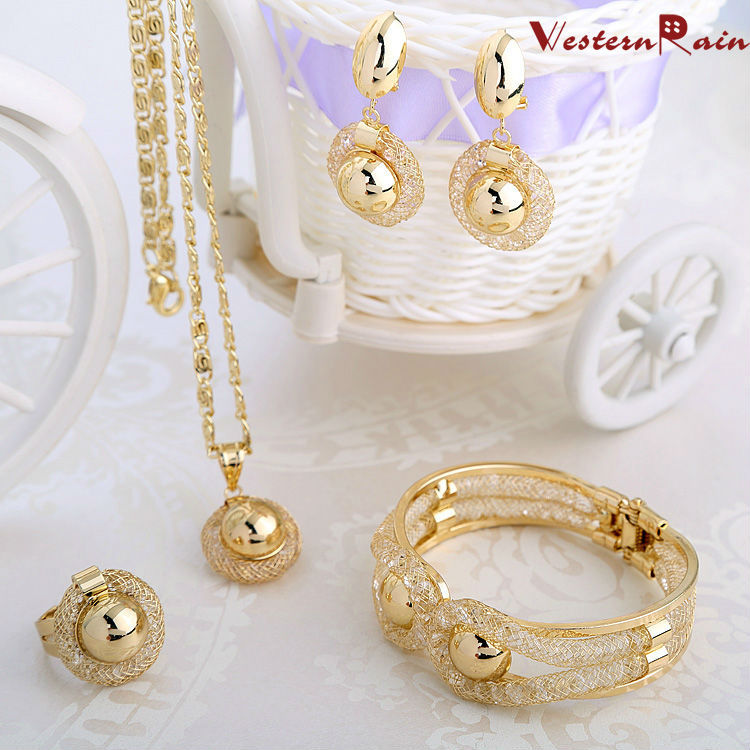 Aliexpress Com Buy New Fashion Necklace Earrings Bridal: WesternRain Charming Lady Gold Plated Jewelry Elegant