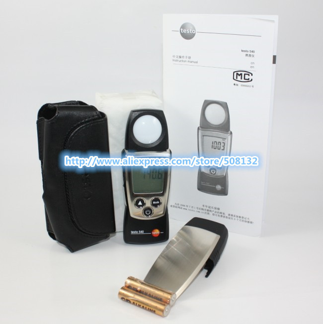 Testo 540 Digital Pro Light Tester Logger Handy Lux Meter 0to99,999Lux 0560 0540 !!Free shipping!!(China (Mainland))