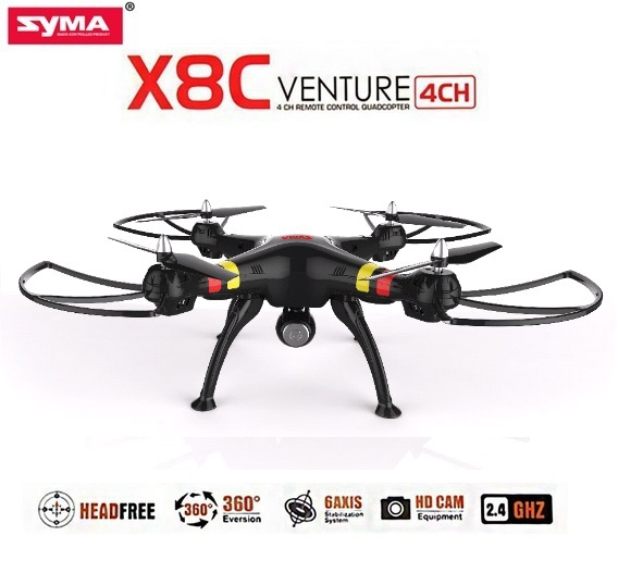SYMA X8C X8C-1 2.4G 4CH 6Axis Big Size RC Drone Quadcopter With 2MP Wide Angle HD Camera Remote Control Helicopter Free Shipping(China (Mainland))