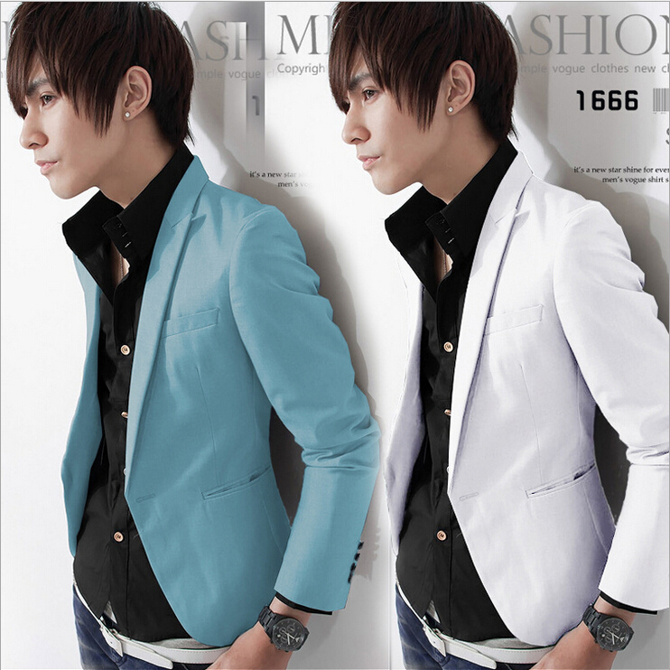 Hot! 2015 Autumn New Men Blazer Fashion Slim casual blazer Brand Mens suit Designer jacket outerwear men M~XXL Clothing - haozhan liang's store
