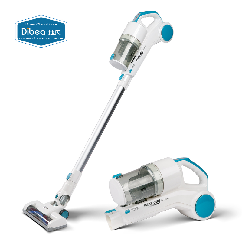 Dibea ST1601 New Handy Cordless Vacuum Cleaner with Cyclonic Technology Light Weight 2-in-1 Stick and Handhold 7Kpa Suction(China (Mainland))