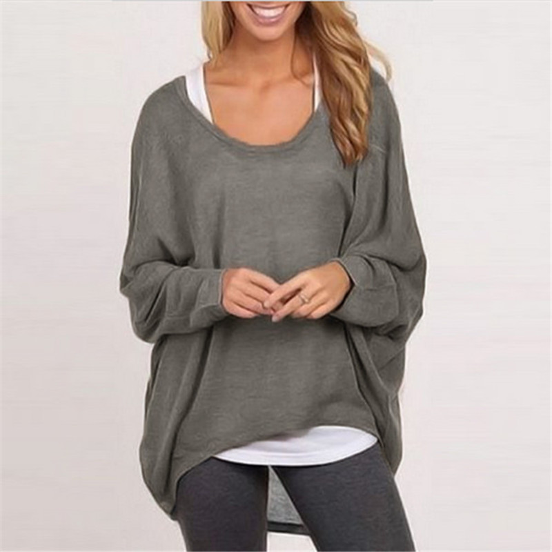In Quality Reasonable My Stylish 2016 Hot Sale 1pcs Womens Long Sleeve Round Neck Checked Loose Shirt Blouse Tops Good-looking Oct 31 Superior