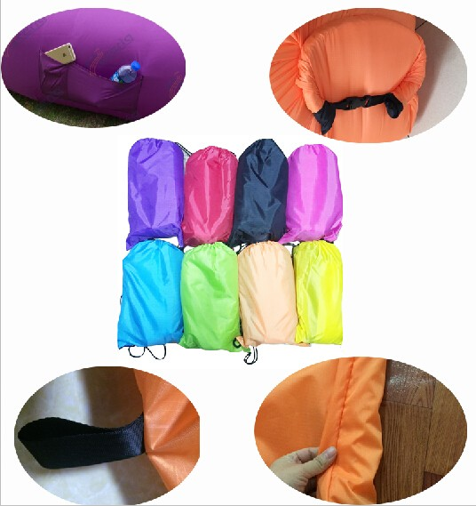 15pc pack fast free shipping air bed sleeping air sofa lazy sofa outdoor hangout best selling summer holiday indoor laybag(China (Mainland))