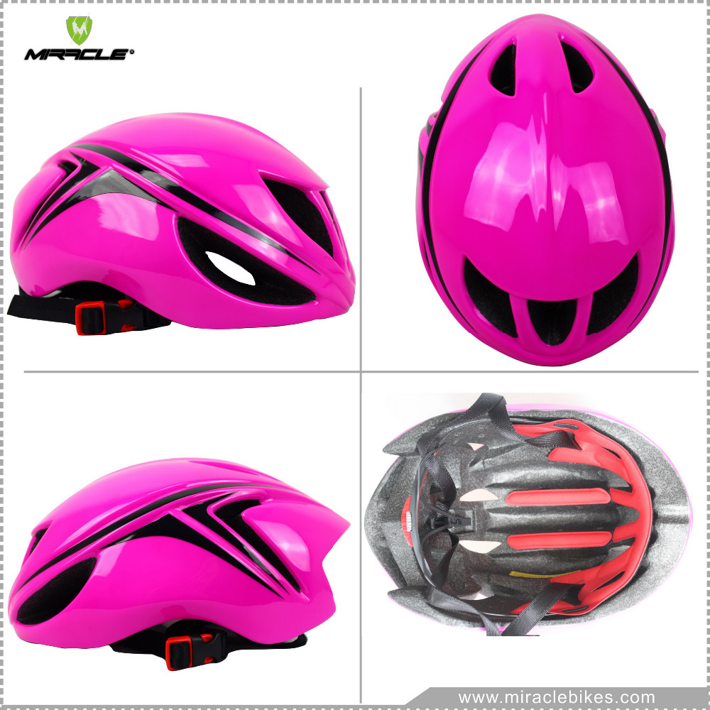 2016 Hot Sell Size M-L 55-61CM Road/MTB/TT Bike Helmet, EPS+PC AERO Bicycle Helmet For Men Pink Color Without Sticker Stock(China (Mainland))