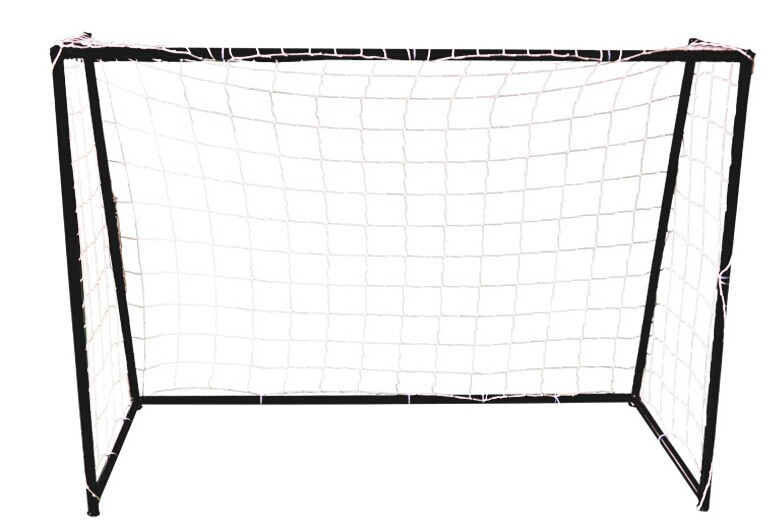 3 or 5 people steel pipe football goal 1.5*1.1m black soccer ball goal including net and fabric christmas gift(China (Mainland))
