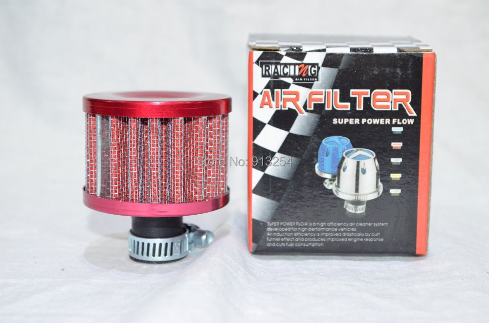 Red/Blue 12MM JDM Mini Air Intake Auto Air Filter(China (Mainland))