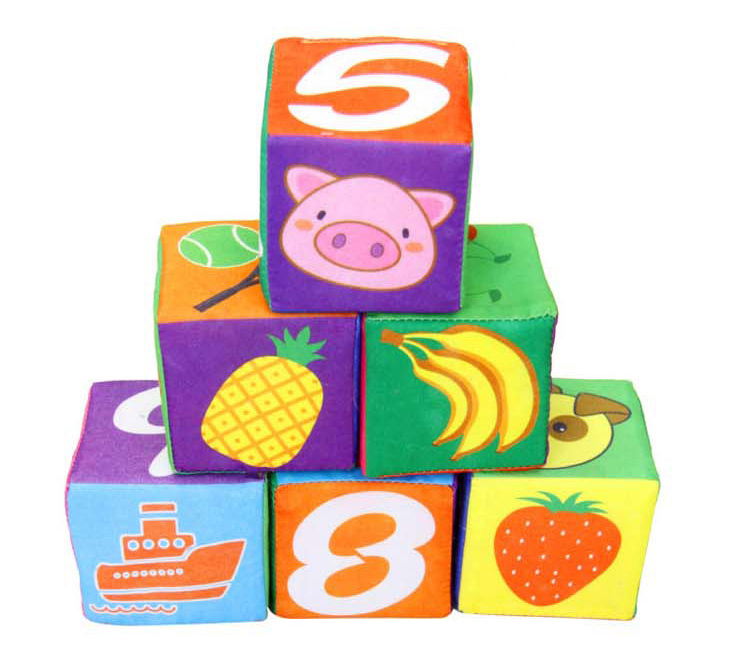 7cm soft cloth blocks digital rattles early development baby cognitive newborn game educational toy - For you store