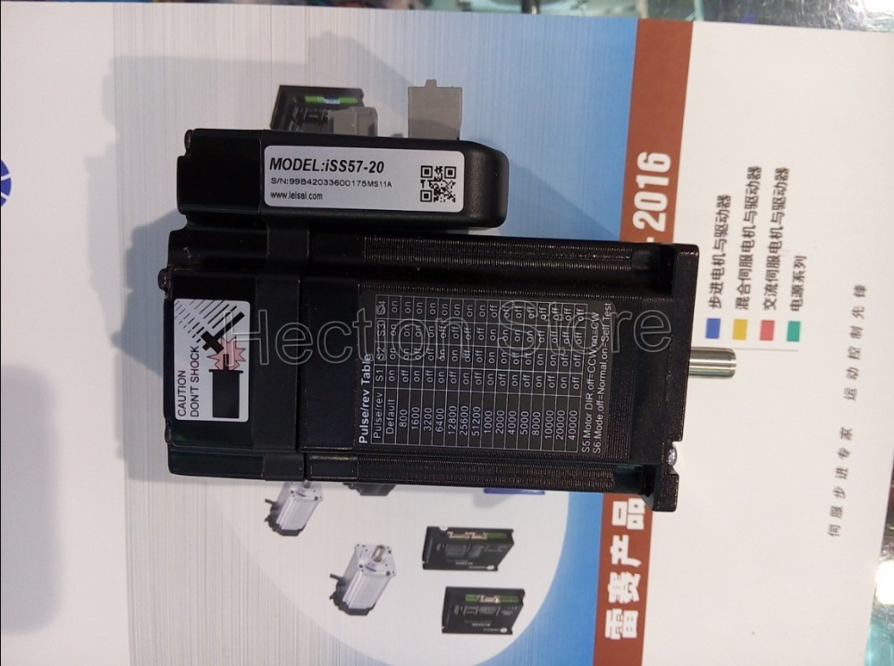 New Leadshine Close Loop system integrated a NEMA 23 motor with1000 encoder & a servo drive at one machine can output 2NM Torque(China (Mainland))