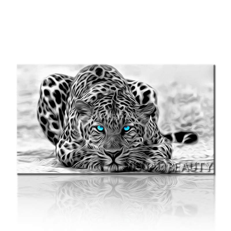 Cheetah Animal Artwork, Modern Abstract Floral Canvas Wall Art Painting , Photo Canvas Print on Canvas Art Rolled 50x90cm(China (Mainland))