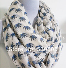 Free shipping ladies fashion small elephant scarf animal infinity scarf