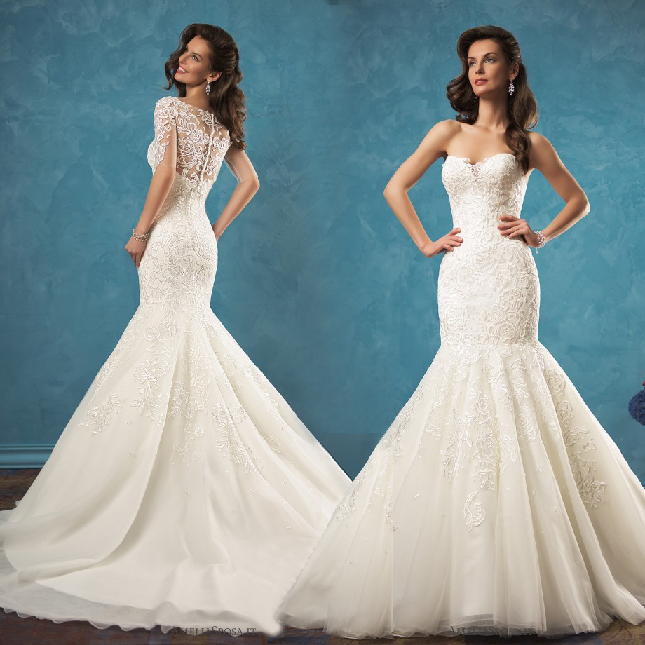 Ivory lace mermaid wedding dresses 2017 new sweetheart for Sweetheart corset wedding dress