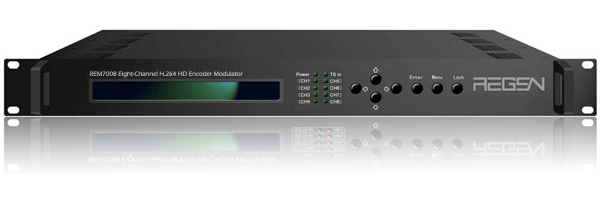 8-Channel HDMI input to DVB-C QAM H.264 HD Encoder Modulator TS over IP output in unicast or multicast 4*MPTS out REM7008(China (Mainland))