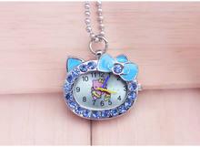 Encantador bonito bonito olá kitty chaveiro moda jóias Relógio de Bolso colar relógio de bolso o transporte Da Gota(China)