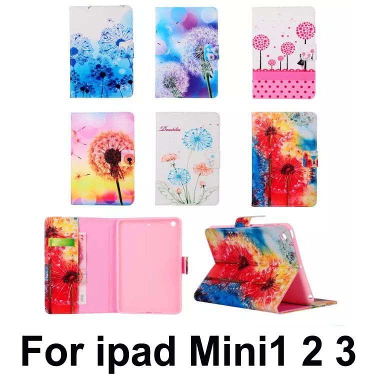 Case For Apple iPad Mini Cases Smart Sleep Wake Stand Cover Tablets Accessories For ipad Mini1 2 3+stylus(China (Mainland))