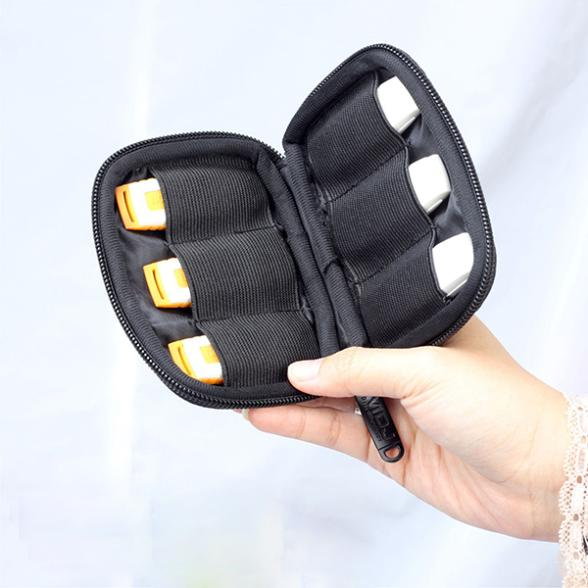 Low Price Black Portable Flash Drives Carrying USB Bags Storage Bag Protection Pouch Bag(China (Mainland))
