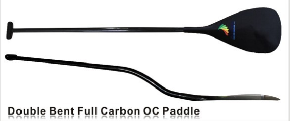 ZJ SPORT Hot Sale Hawaii Type Lighweight Carbon Fiber Outrigger Canoe OC Paddle Double Bent Carbon Shaft In Customize Length