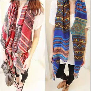2015 Big size Bohemia national trend scarf female rhombus geometry fashion scarf women free shipping(China (Mainland))
