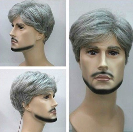 Gray Short Top Quality Men s FULL WIG Free Hot Sale Wig for synthetic queen Unisex