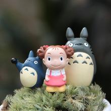 Set of 3 pcs Mini Hayao Anime My Neighbor Totoro Figure Set Gift toy Tonari No Totoro Mei/May Figures Toys Model