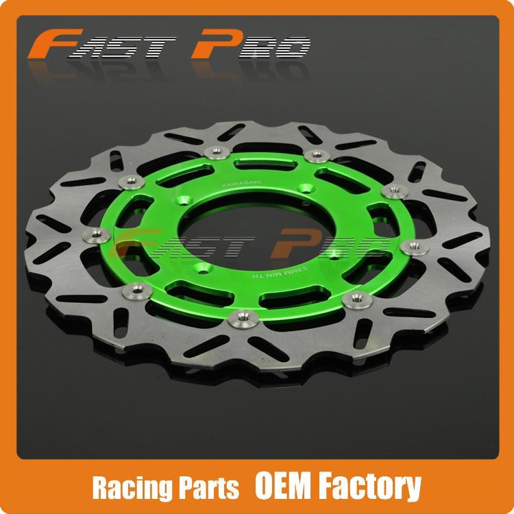 320MM Front Wavy Floating Brake Disc Rotor KX125 KX250 KX250F KX450F KLX450 KX KXF KLX Supermoto Motard - Fast Pro racing store