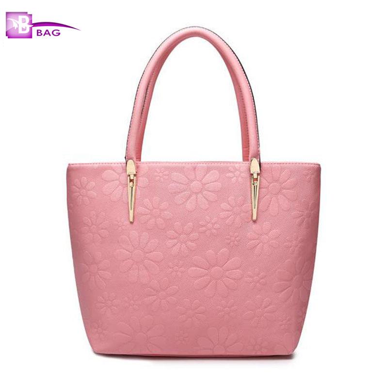 B.BAG 2016 New Arrivals Designer Handbags High Quality Ladies Hand Bags Embossed Fashion Shoulder Bags Bolsa Feminina Pink BW00H<br><br>Aliexpress