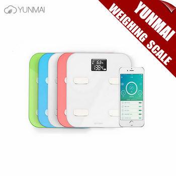 100% Оригинал Yunmai Цвет Смарт-Весы Цифровые Весы Жира Масштаба Шкалы Здоровья Поддержка Android4.3/IOS7.0 Bluetooth 4.0