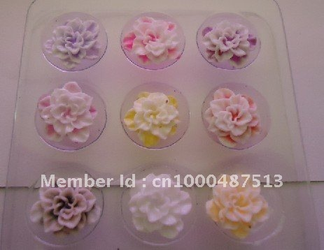Freeshipping Nail Art Sticker Decoration 3D three-dimensional Crystal Nail Clay Flower Box Carved Jewelry Manicure Product
