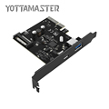 YOTTAMASTER USB3 1 GEN 2 Type C and Type A PCI E Expansion Card Adapter with