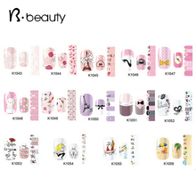 New Arrival Nail Art Stickers,5sheets/lot Cartoon Flower Heart Designs Nail Patch Wraps,DIY Beauty Nail Decals Decoration Tools