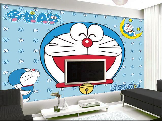 3d wallpaper custom mural non woven wall sticker Hd font b doraemon b font animated cartoon
